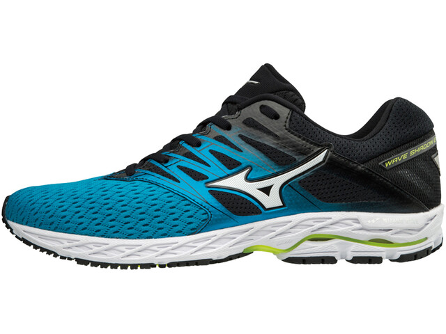 Mizuno Wave Shadow 2 Running Shoes Men blue jewel/silver/safety yellow
